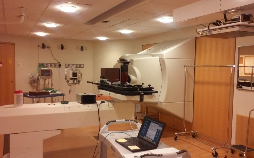 Alibava System Classic used for microdosimetry in protontherapy